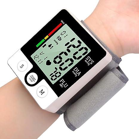 TXqueen Monitor de presión Arterial de muñeca, detección automática de frecuencia cardíaca Monitor de latidos cardíacos BP Pantalla Grande Pantalla LCD Estuche portátil para Uso doméstico: Amazon.es: Deportes y aire libre