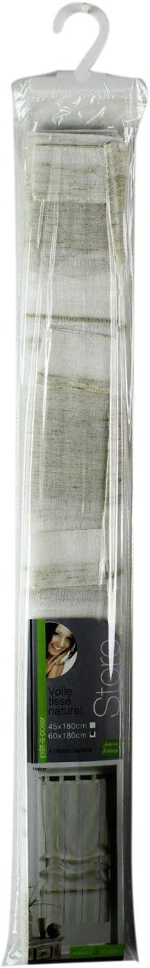 douceur dint/érieur store droit a passants 60x180 cm tisse naturel helios lin