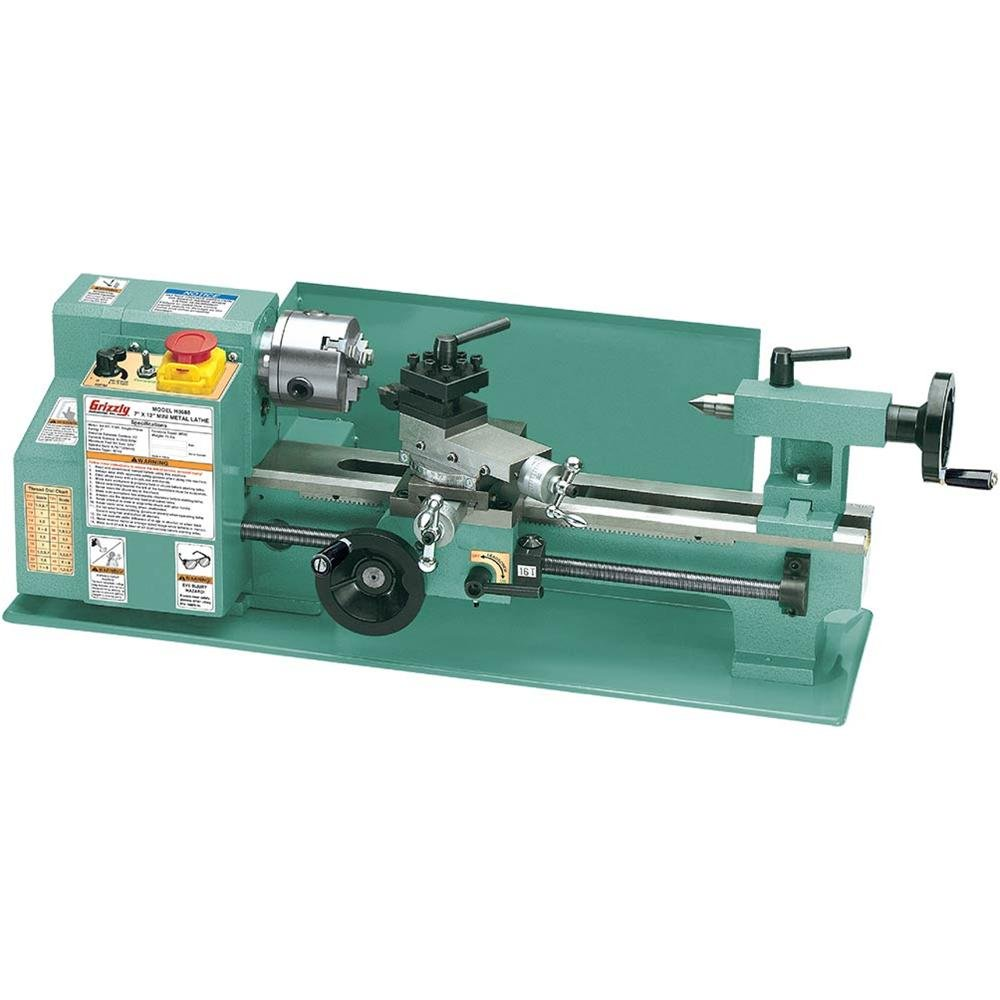 Grizzly G8688 Mini Metal Lathe 7 X 12 Inch Home Reversing A Improvement