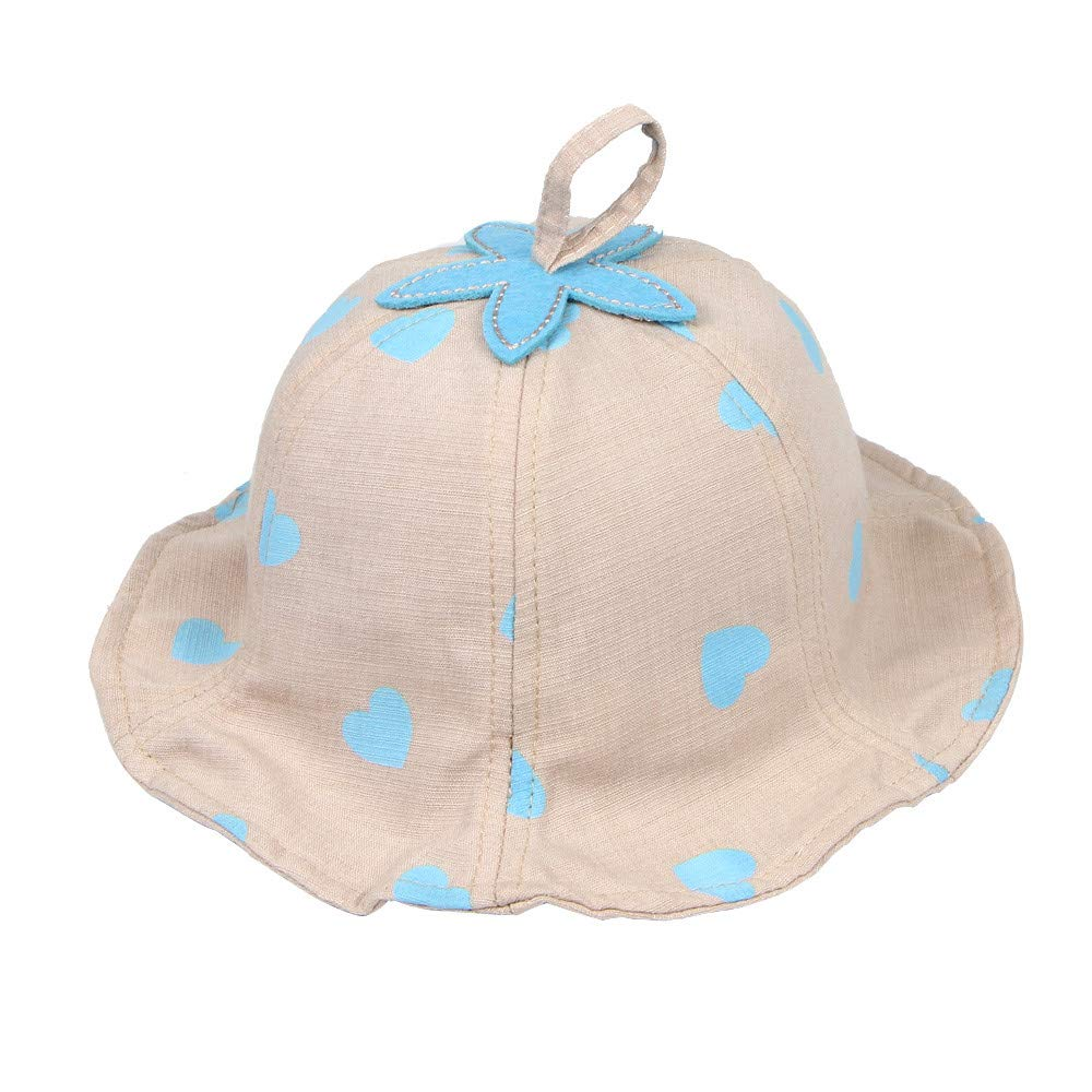 MALLOOM Newborn Props Baby Girl Boy Sun Polka Dots Beanie Hat Lace Cap 2-12 Months
