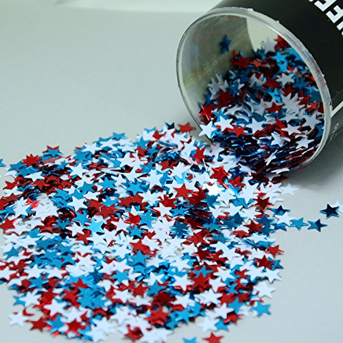 Confetti Stars 1/4 lb Patriotic Red White and Blue