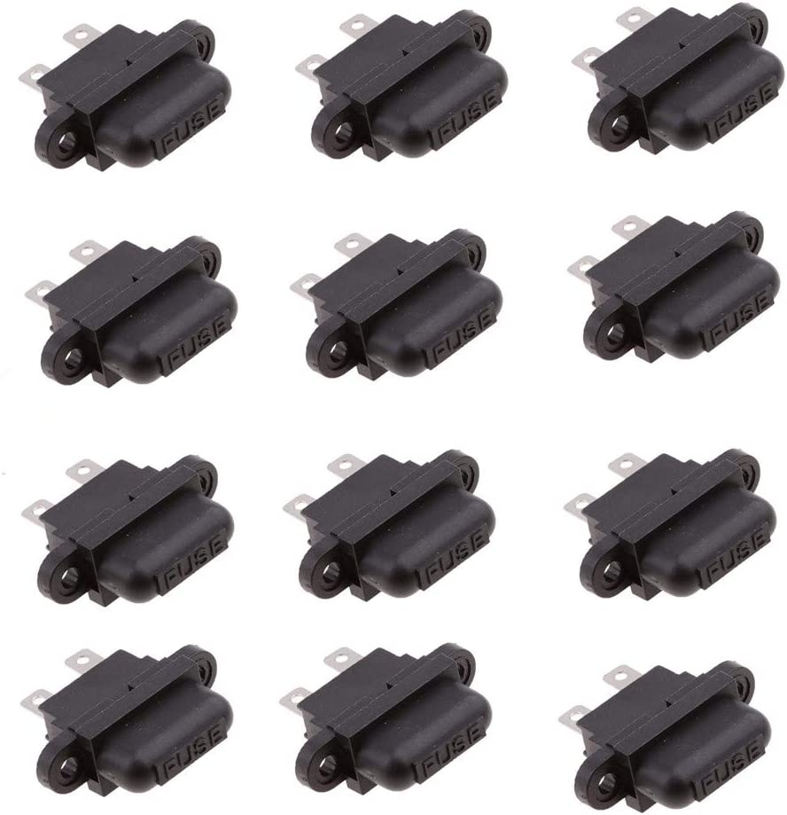 Qiying ATO Plug-in Fuse Box 12 Pieces Car Fuse Holder