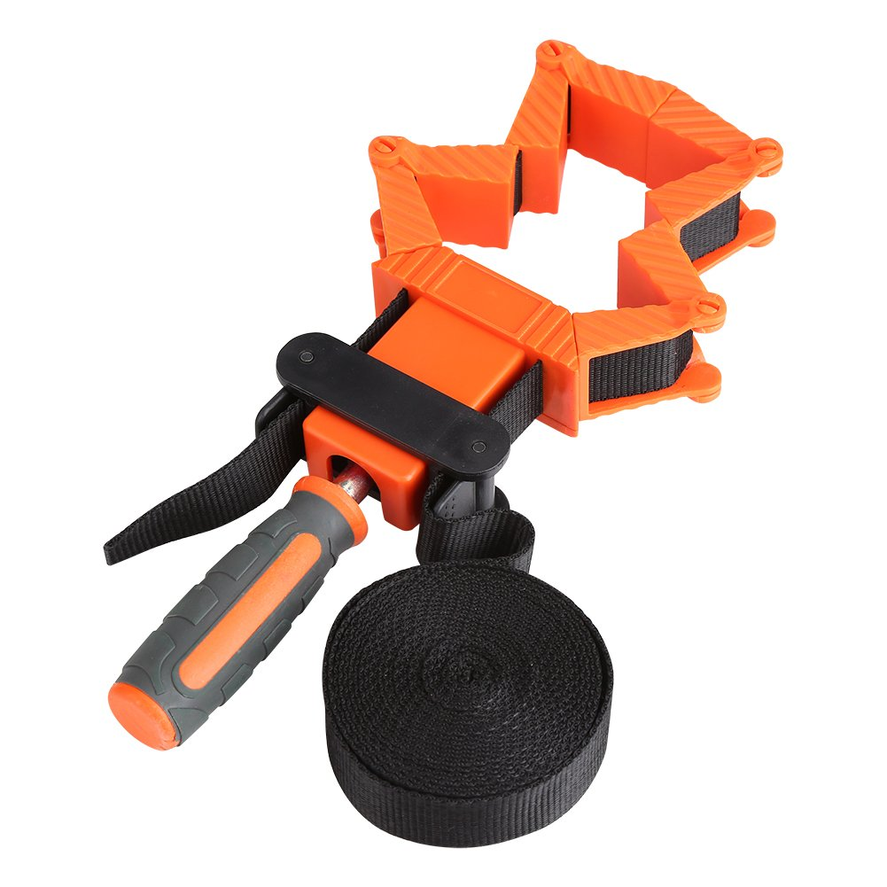 Asixx Strap Clamps for Woodworking, 4M Woodworking Band Strap Clamp Ratchet Corner Miter Vise Framing Tool with High Strength and Wear-Resistant for Variety of Shapes to Tie and Clip