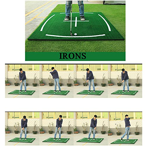 PGM Golf Course Hitting Mat Driving Range Practice Mat----4.92FT X 4.92FT, With Alignment Line, Teaching Equipments by PGM (Image #5)
