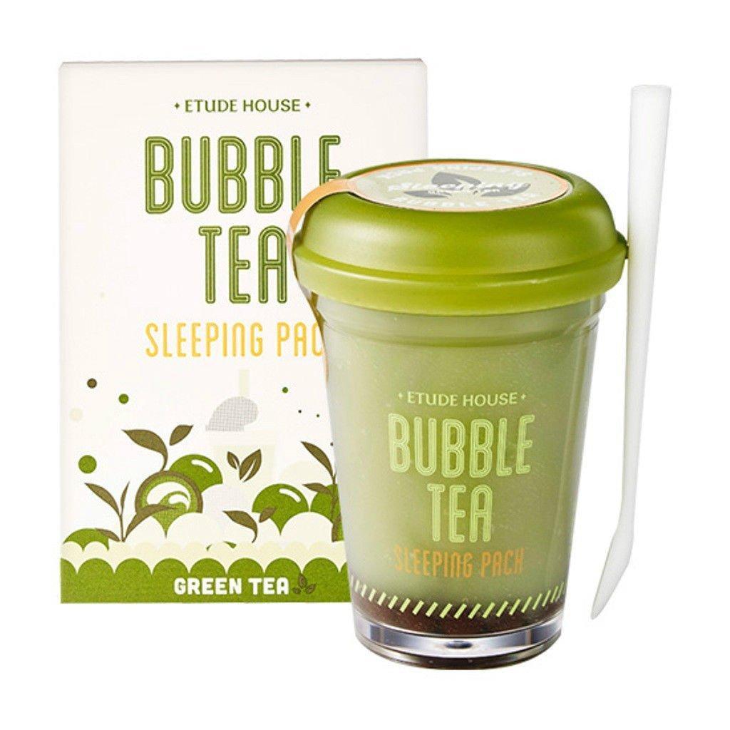 Etude House bubble tea sleeping pack (100g) (green tea) EP14-Greentea