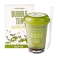 Etude house Bubble Tea Sleeping Pack Green Tea 100g