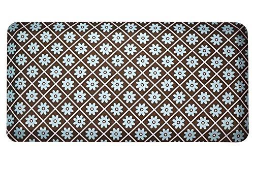 Amcomfy Kitchen Anti Fatigue Mat, Comfort Floor Mats, Standing Desk Mats, Antique Series (20 x 39 x 3/4 Inches, T180Blue) (Robins Egg Blue Kitchen Rug)