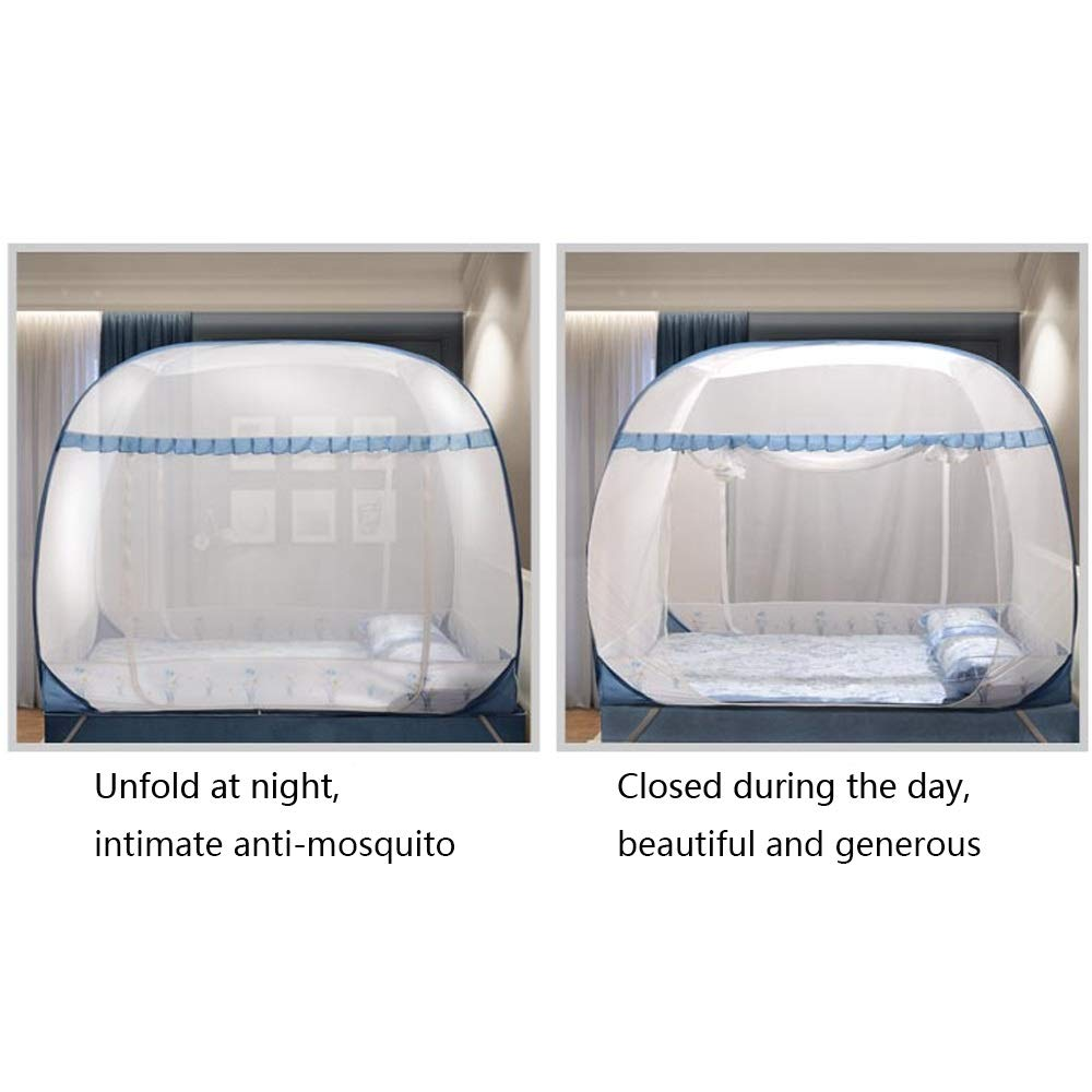 YXQ- Mosquito Net - Yurt Type Does Not Installation Require Three-Door Encryption Padded Mosquito Net - Size: Suitable for 5 Foot Bed, for 6 Foot Bed Mosquito net (Size : Suitable for a 6 Foot Bed) by YXQ- (Image #6)