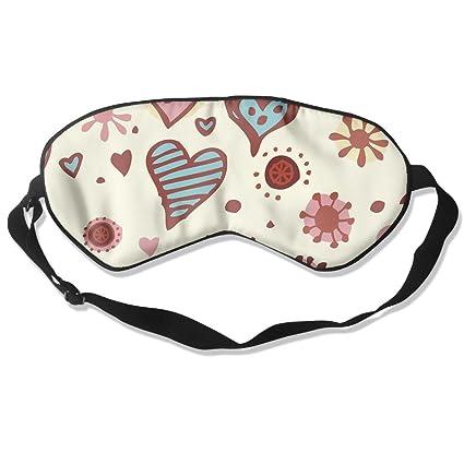 Amazon.com: Máscara para dormir con diseño de corazones y ...