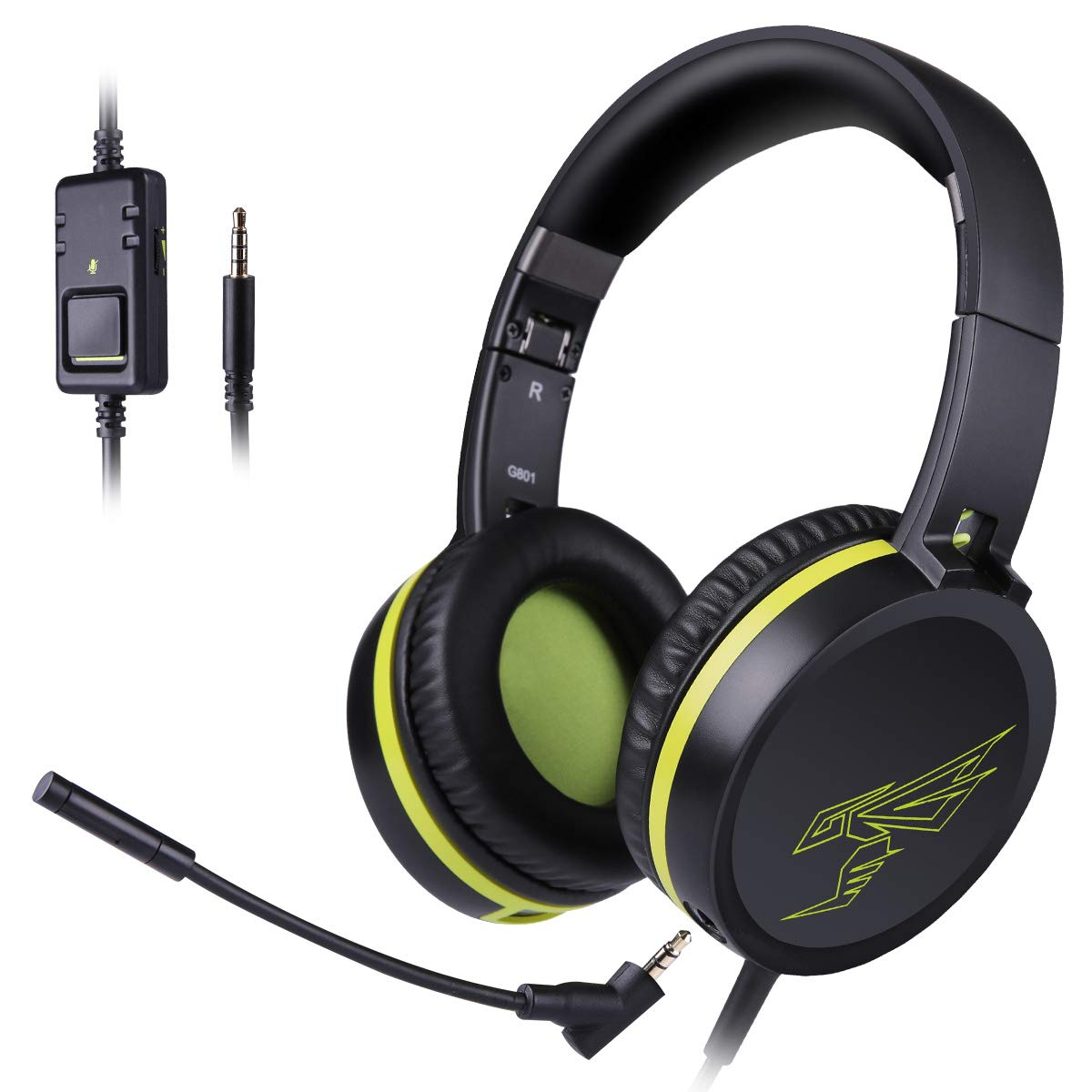 Gaming Headset Detachable Mic
