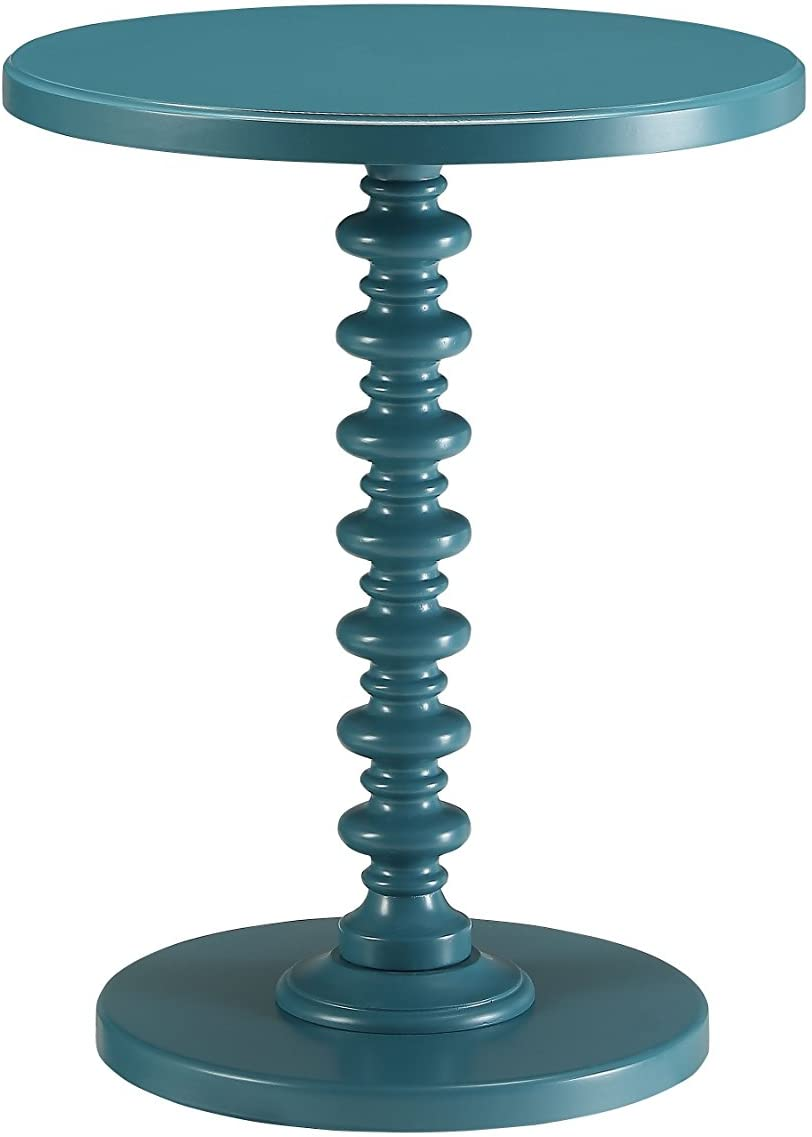 ACME Furniture Acton Side Table, Teal, One Size
