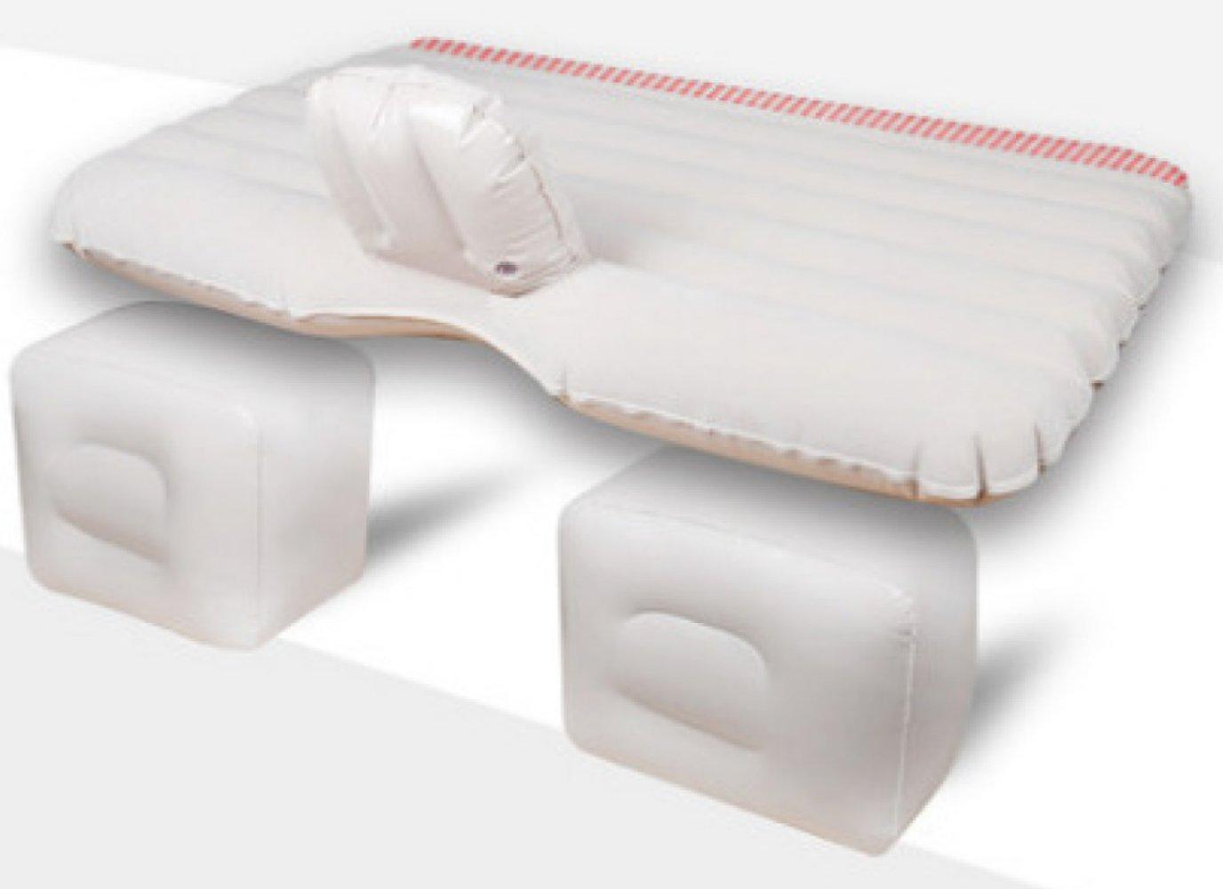 ERHANG Luftmatratzen Luftbetten Betten Luftmatratzen Aufblasbares Bett Auto-Reise-Bett-Erwachsene Schlafen-Auflage Im Freien,Weiß