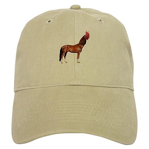 CafePress - Horse Rooster Baseball - Baseball Cap with Adjustable Closure 2111b9097983