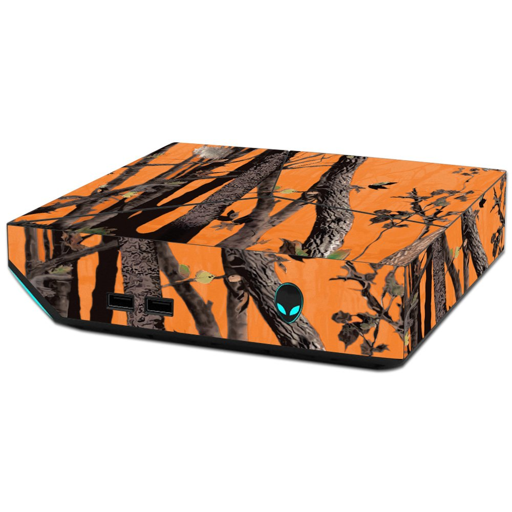 MightySkins Skin For Alienware Steam Machine - Orange Camo   Protective, Durable, and Unique Vinyl Decal wrap cover   Easy To Apply, Remove, and Change Styles   Made in the USA