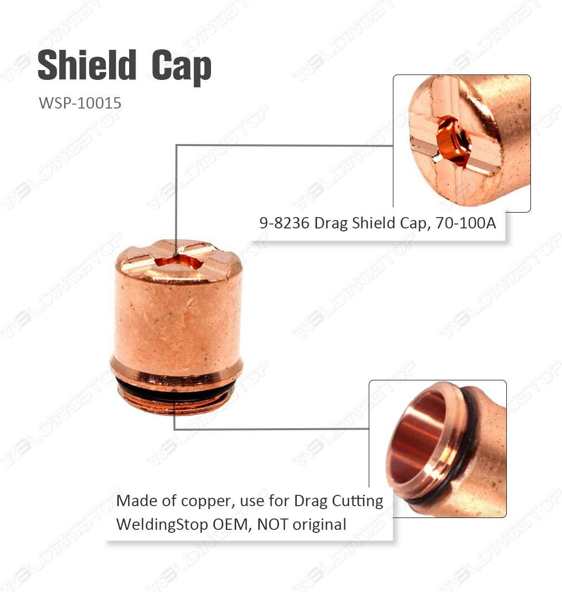 9-8236 Shield Cap for Plasma Cutting Torch Thermal Dynamics SL60~100 PKG5
