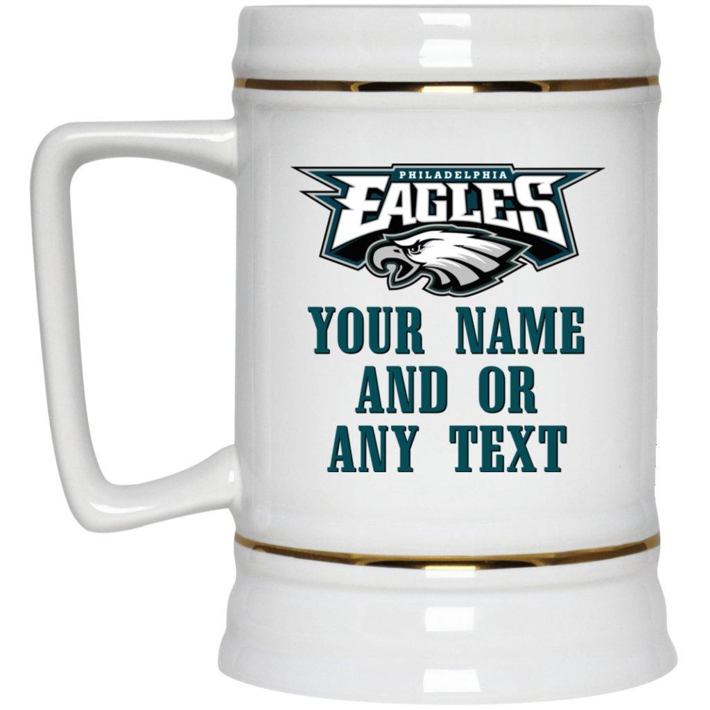 best service 45756 187a8 Custom Personalized Philadelphia Eagles Beer Mug   Eagles Beer Mug   22 oz  White Ceramic Beer Stein   NFL NFC   Perfect Unique Gift For Any Eagles ...