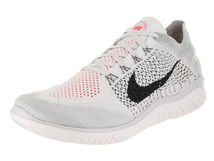 Amazon.com | NIKE Mens Free RN Flyknit 2018 Pure Platinum/Black/White Running Shoe 7.5 Men US | Road Running