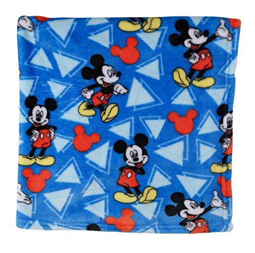 Mickey Mouse Blanket (Disney Mickey Mouse Super Soft Fleece Blanket, Blue)