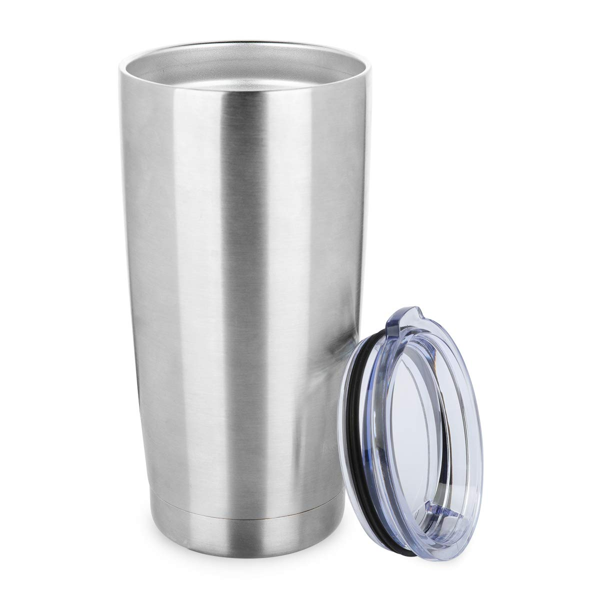 ONEB 20 oz Double Wall Vacuum Insulated Coffee Cup - 18/8 Stainless Steel Travel Mug for Cold & Hot Drinks (Silver 8pack)) by ONEB (Image #5)