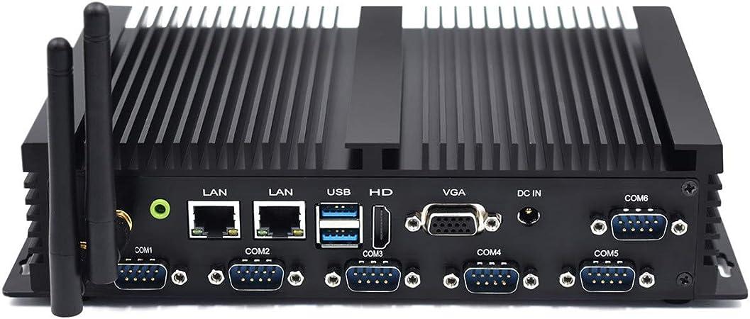 Mini PC con Dual Core NUC i5 4200U con computadora de Escritorio con Windows 10, 16 GB de RAM, 256 GB SSD, 6 RS232 COM, 2 LAN, HDMI, VGA, WiFi, ...