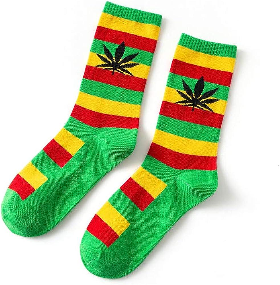 oobest 44 colori Unisex Weed Leaf stampato colorato calze casual acero foglie calze di cotone