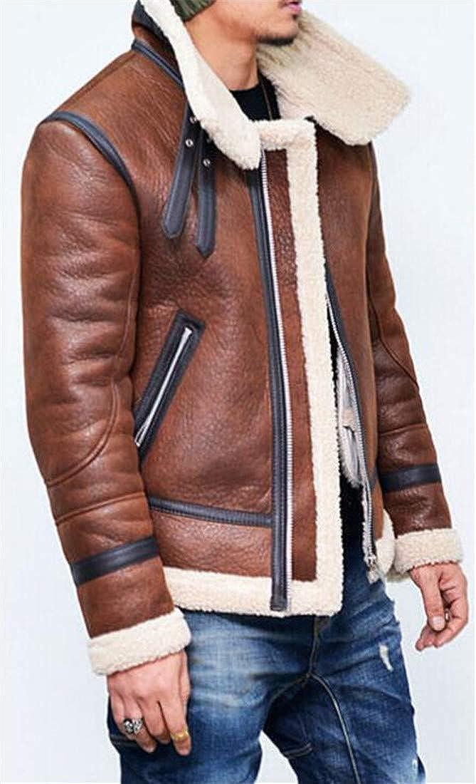 Joe Wenko Mens Outwear Big and Tall Fur Collar Zipper Winter Sherpa Lined Parka Coat