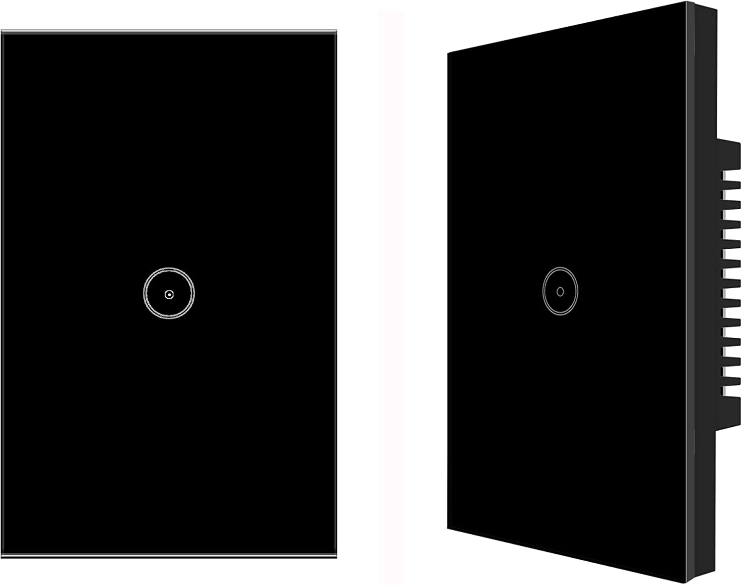 Jinvoo WiFi Wall Light Touch Panel Switch, Remote Control with Smart Phone,No Hub Required, AC 120V, Compatiable with Alexa Echo, Works with Google Home (2pack)