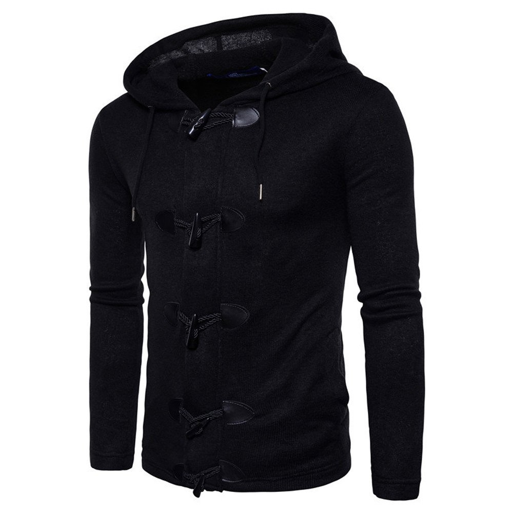 Jacket For Men,Clearance Sale-Farjing Fashion Mens' Autumn Winter Slim Designed Hooded Top Cardigan Coat Jacket(L,Black )
