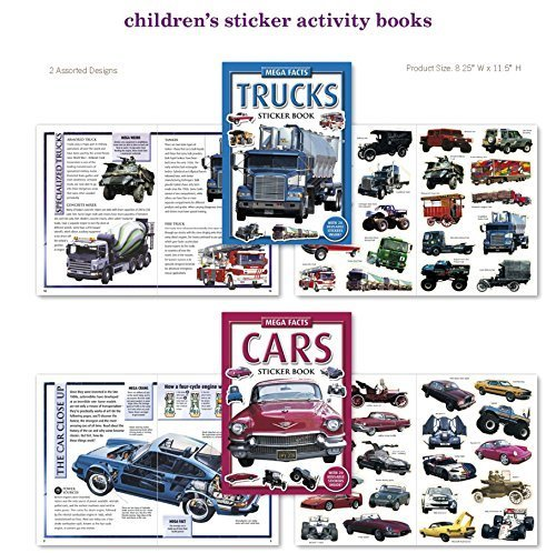 Car, Truck, Tractor, Stickers 2 Sticker Activity Books 40 St