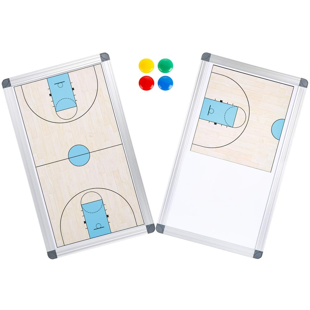 OUSL Coach Board, Magnetic Dry Erase Basketball Coach Referee Marker Board Coaching Board Portable Double-Sided Board