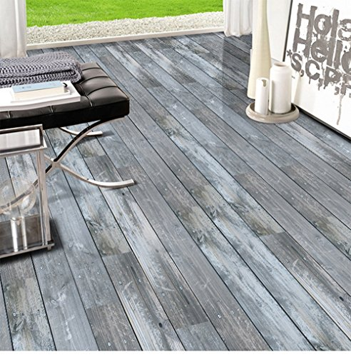 Calcomanías de madera 3D pegajosas pegatinas de piso pegatinas de piso de madera de imitación pegatinas de piso de pvc piso...