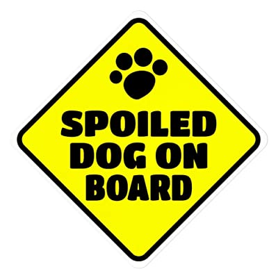 Imagine This D1955 Car and Rescue Decal (Spoiled Dog On Board), 2 Pack: Automotive