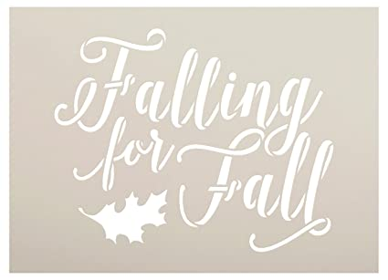 Falling For Fall Stencil By StudioR12| Script Letters | Reusable Word  Template For Painting On