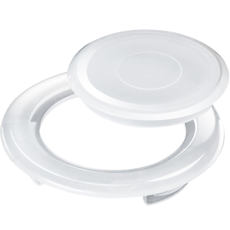Bememo 2 Inch Patio Table Umbrella Hole Ring and Cap Set, Standard Size Umbrella Thicker Hole Ring Plug and Cap Set (Translucent, 1 Set)