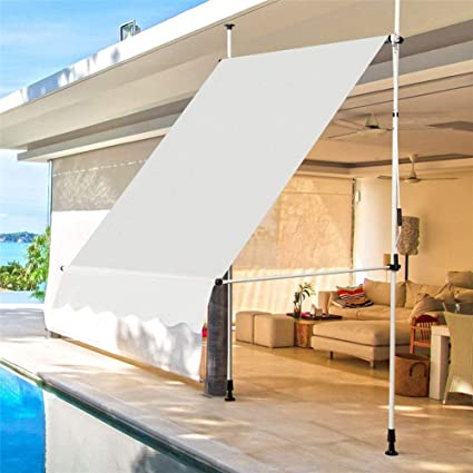 ZDYLM-Y Toldo telescópico, toldo de Abrazadera Exterior retráctil y Ajustable con manivela, Ventana de Patio de jardín Refugio de sombrilla,Blanco,2.5M: Amazon.es: Deportes y aire libre