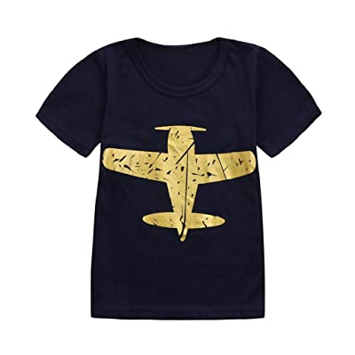 0-5 Years Old Boys,Yamally_9R Cool Boy Children Kids Airplane Print O-Neck T-Shirt Tees Tops Summer Casual Clothes