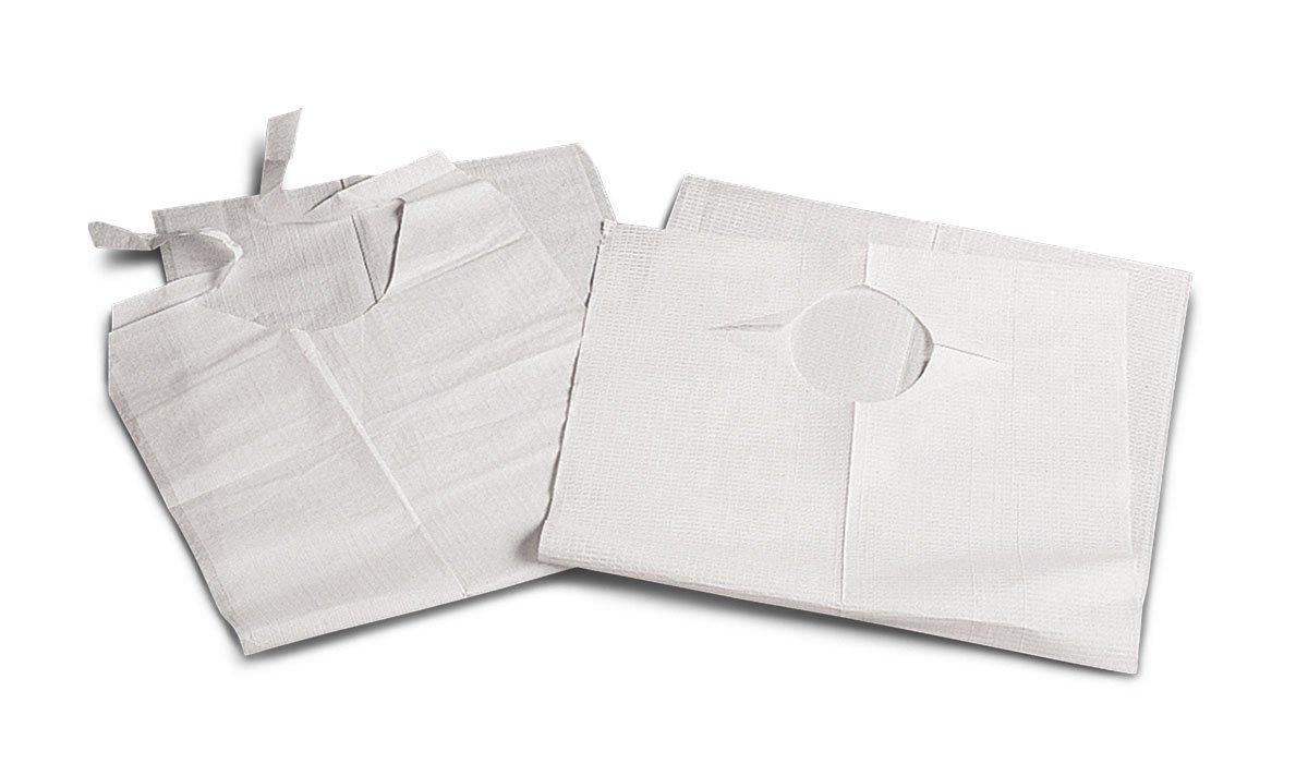 Medline NON24265 Disposable Slip-On Adult Bibs, 19'' x 35'', White (Pack of 150)