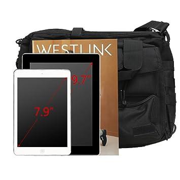 bd590f267df5 Amazon.com  Koolertron Pro- Multifunction Mens Military Tactical Outdoor Nylon  Shoulder Messenger Bag Handbags Briefcase Large Enough for 15.6