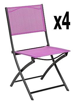 Lote de 4 sillas Plegables, tamaño: BELVEDERE-45,5 x 53 x ...