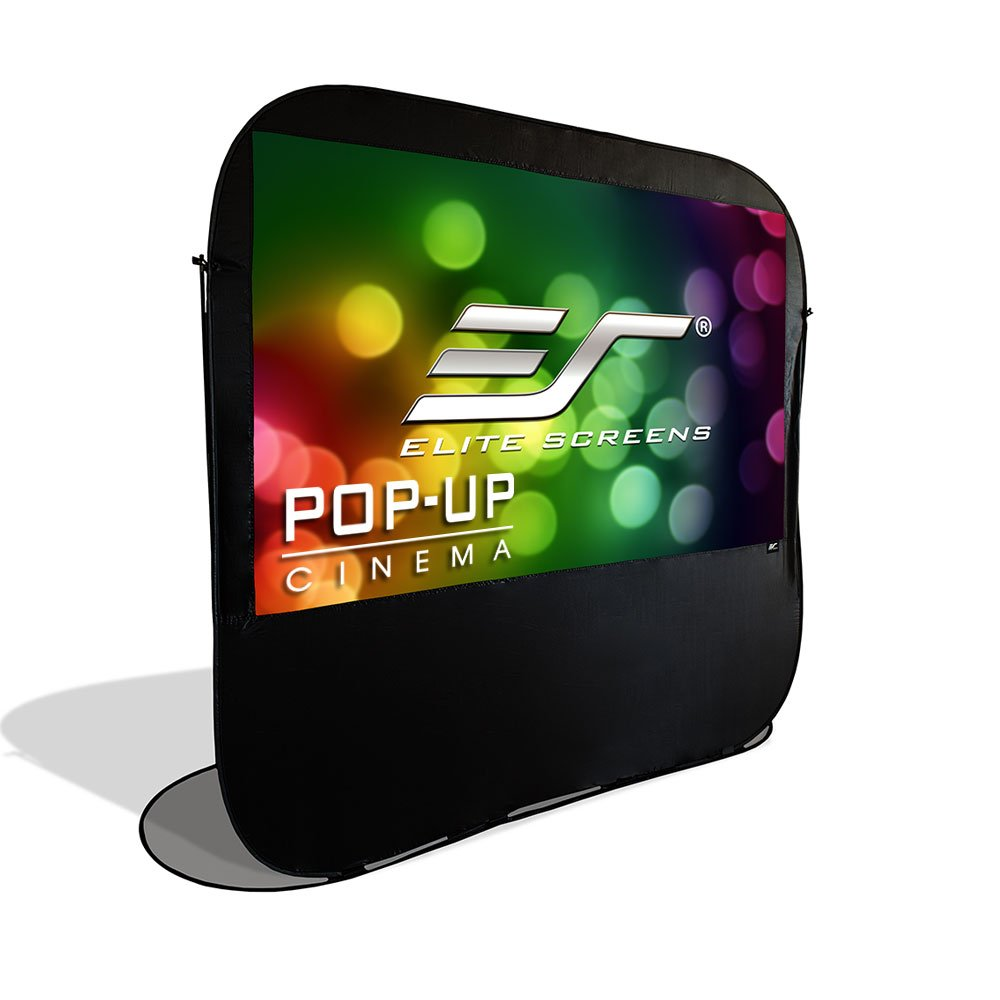 Elite Screens Pop-up Cinema Series, 92-inch 16:9, Portable Spring Indoor Outdoor Camping Projector Screen, POP92H Elite Screens Inc.