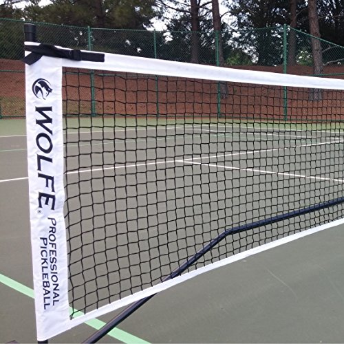 Wolfe Sports Portable Pickleball Net (Tournament) by Wolfe