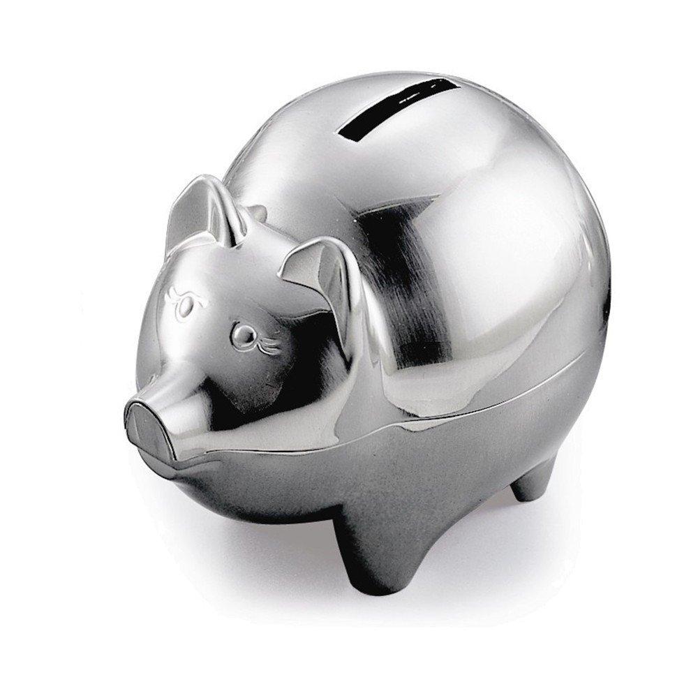 ピューター仕上げ豚銀行   B00GLRZ470