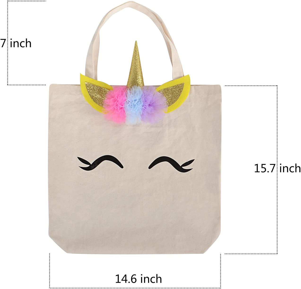 Magic Happens Every Day Unicorn Vibes Cotton Tote Bag