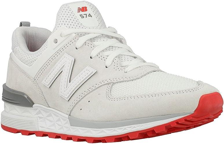 new balance blanc rouge