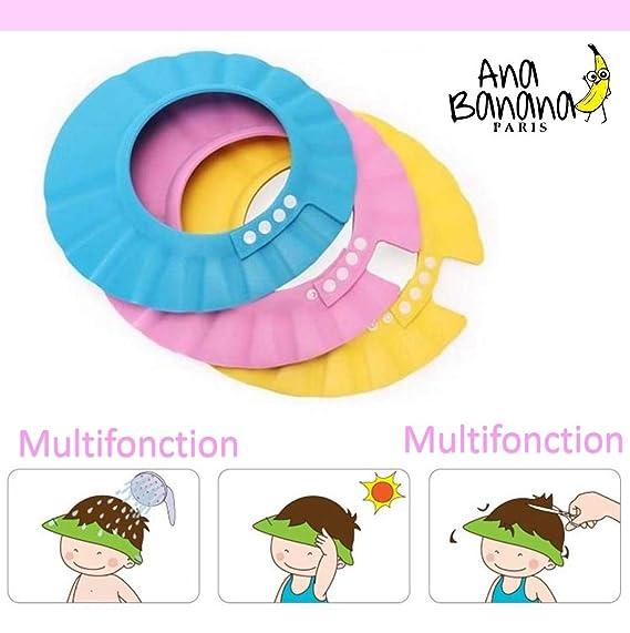 Visera de Bebé Niños para lavar el pelo ROSA (Protección ...
