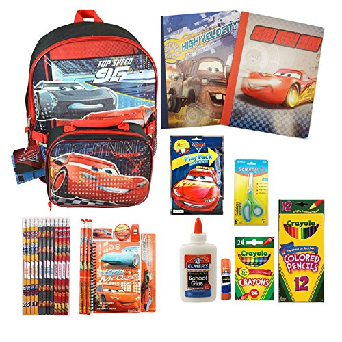 Disney Cars 3 Backpack And School Supply Set