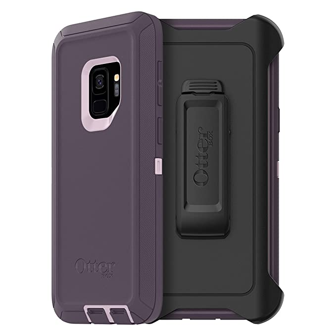 save off df03a f0920 OtterBox Defender Series Case for Samsung Galaxy S9 - Frustration Free  Packaging - Purple Nebula (Winsome Orchid/Night Purple)