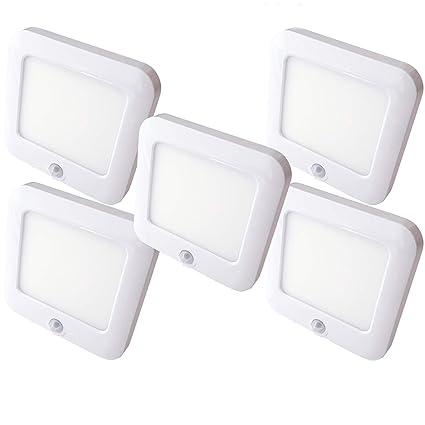 5 focos LED magnéticos recargables y sensor de movimiento automático PIR – armario de cocina bajo