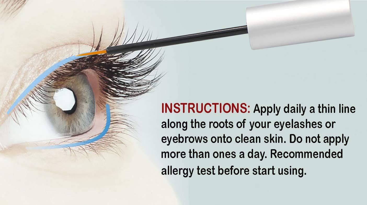 May Rose – Eyelash Growth Enhancer Serum for Long Ticker Lashes and Eyebrow Irritation Free Eyelash Growth Serum, 5mL
