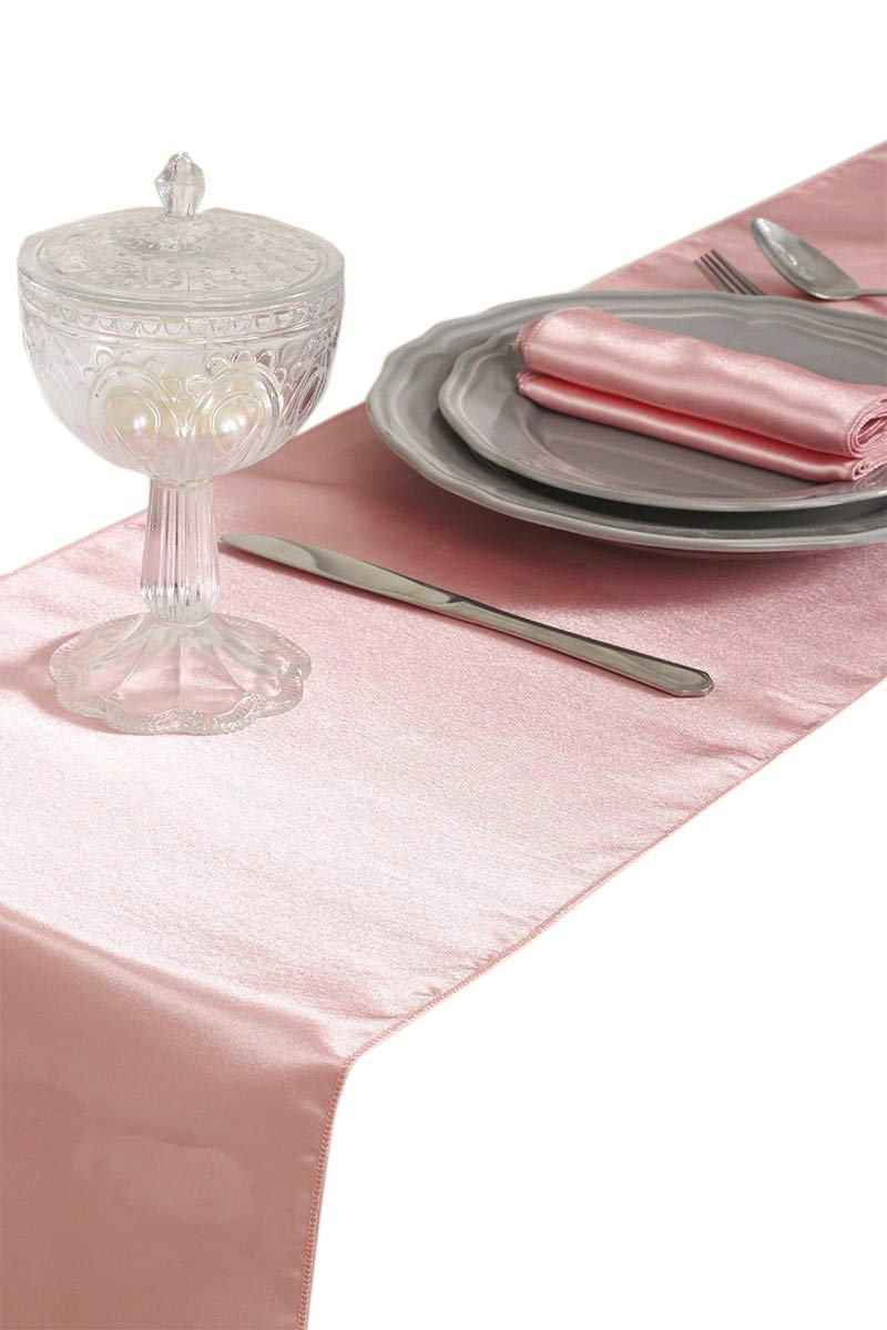mds-Pack-of-10-Wedding-12-x-108-inch-Satin-Table-Runner-for-Wedding-Banquet-Decoration-Blush-Pink